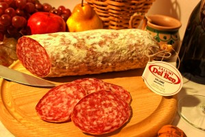 Salame sliced